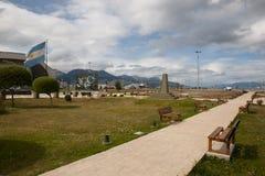 Monument aan Malvinas Eilandenslag - Ushuaia - Argentinië royalty-vrije stock fotografie