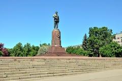 Monument aan Mikhail Ivanovich Kalinin Kaliningrad, Rusland Stock Foto's