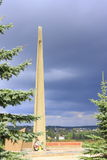 Monument aan militairen aan bevrijders Stock Afbeelding