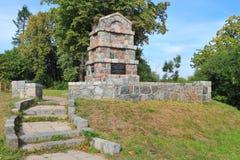 Monument aan militairen aan de doden in de jaren van Wereldoorlog I Stock Foto