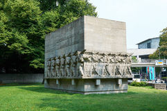 Monument aan militairen gedood tijdens de Eerste wereldoorlog hamburg Royalty-vrije Stock Afbeelding