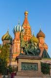 Monument aan Minin en Pozharsky in Moskou Royalty-vrije Stock Foto