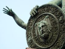 Monument aan Minin en Pozharsky in Moskou, Rusland Royalty-vrije Stock Afbeeldingen