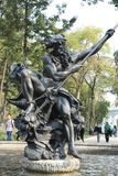 Monument aan Neptunus in openbare ruimte in Mexico-City stock foto