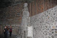 Monument aan Nicolaus Copernicus in de Zoutmijn in Wieliczka, P royalty-vrije stock fotografie