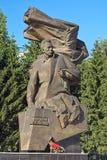 Monument aan Nikolay Kuznetsov in Yekaterinburg, Rusland Stock Foto