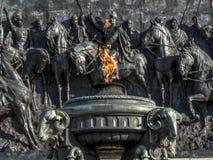 Monument aan Onafhankelijkheid op Onafhankelijkheidspark, in 1922 wordt geopend die stock afbeeldingen
