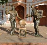 Monument aan Ostap-Buigmachine en Kise Vorobyaninov Stock Foto