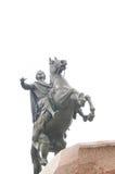 Monument aan Peter 1 op het Senatoriale gebied Stock Foto