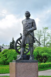 Monument aan Peter The Great in Veliky Novgorod, Rusland stock fotografie