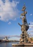 Monument aan Peter Groot in Moskou royalty-vrije stock afbeelding