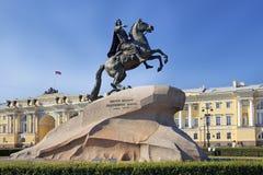 Monument aan Peter Groot, St. Petersburg, Rusland Stock Fotografie
