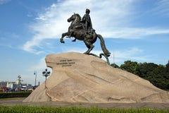 Monument aan Peter Groot, St. Petersburg, Rusland Royalty-vrije Stock Foto