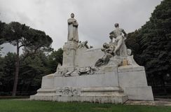Monument aan Petrarca van Arezzo, Italië Royalty-vrije Stock Afbeelding