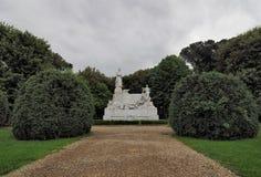 Monument aan Petrarca van Arezzo, Italië Stock Foto