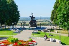 Monument aan Prins Vladimir en heilige hierarch Feodor, Vladimir, Stock Afbeelding