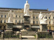 Monument aan Prinses Olga in Kiev Royalty-vrije Stock Afbeeldingen