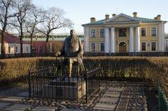 Monument aan Pyotr I in St. Petersburg Stock Foto