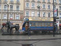 Monument aan railwayman, heilige-Petersburg, Rusland Stock Foto's
