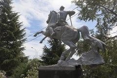 Monument aan Rode Legermilitairen in regeling Kudepsta, Sotchi stock afbeelding