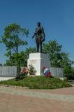 Monument aan Russische militairen die in Wereldoorlog II, in het Kaluga-gebied in Rusland stierven Royalty-vrije Stock Foto
