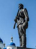 Monument aan Russische militairen die in Wereldoorlog II, in het Kaluga-gebied in Rusland stierven Royalty-vrije Stock Fotografie
