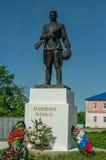 Monument aan Russische militairen die in Wereldoorlog II, in het Kaluga-gebied in Rusland stierven Royalty-vrije Stock Afbeeldingen