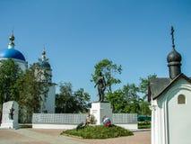 Monument aan Russische militairen die in Wereldoorlog II, in het Kaluga-gebied in Rusland stierven Royalty-vrije Stock Afbeelding