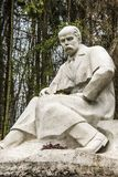 Monument aan Shevchenko van steen Stock Foto's