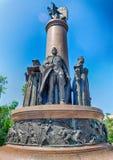 Monument aan verjaardag 1000 van de stad van Brest stock afbeeldingen