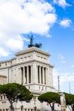 Monument aan Victor Emmanuel II Vittoriano stock foto