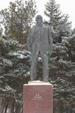 Monument aan Vladimir Ilyich Lenin in de stad van Evpatoria in wi Royalty-vrije Stock Foto's