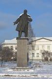 Monument aan Vladimir Lenin in de stad van Velsk, Arkhangelsk-gebied, Rusland royalty-vrije stock foto's