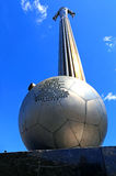 Monument aan Y Gagarin - de eerste man in de wereld, die vliegen in Stock Fotografie