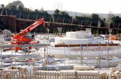Monument in aanbouw Stock Foto
