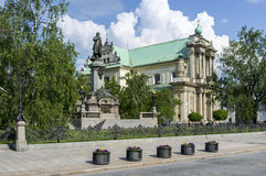 Monument of Adam Mickiewicz in Warsaw, Poland Royalty Free Stock Photo