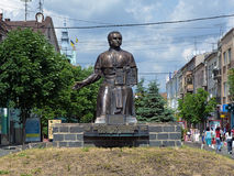 Monument of Alexander Dukhnovich in Mukacheve Stock Photo