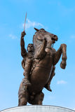Monument of Alexander The Great - Skopje, Macedonia Stock Photo