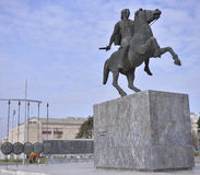 Monument of Alexander The Great, Thessaloniki, Greece Stock Photography