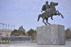 Monument of Alexander The Great, Thessaloniki, Greece Stock Images