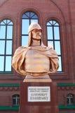 Monument of Alexander Nevsky. In Pavlodar, Kazakhstan. Alexander Nevsky was the Prince of Novgorod and Grand Prince of Vladimir Stock Photo