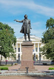 Monument of Alexander Pushkin, famous Russian poet, St. Petersburg Royalty Free Stock Photography