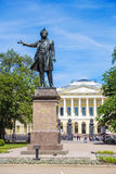 Monument  Alexander Pushkin, St. Petersburg Stock Photo