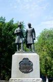 Monument of Alexandr Pushkin and Vladimir Dal in Orenburg city, Stock Images