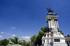 Monument of Alfonso XII. In Retiro park, Madrid, Spain Royalty Free Stock Photo