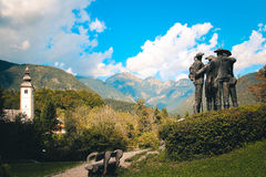 Monument in Alps. Stock Photography