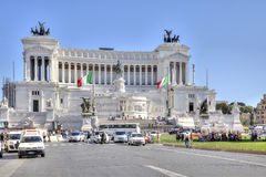 The monument Altare della Patria and the monument to King Vittor Stock Photography