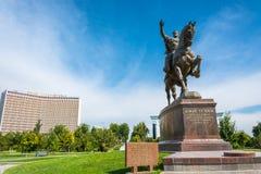 Monument Amir Timur à Tashkent, l'Ouzbékistan Photo libre de droits
