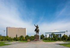 Monument Amir Timur à Tashkent, l'Ouzbékistan Image stock