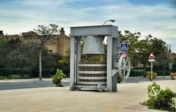 The monument ancient wine press. Olite. Royalty Free Stock Photography